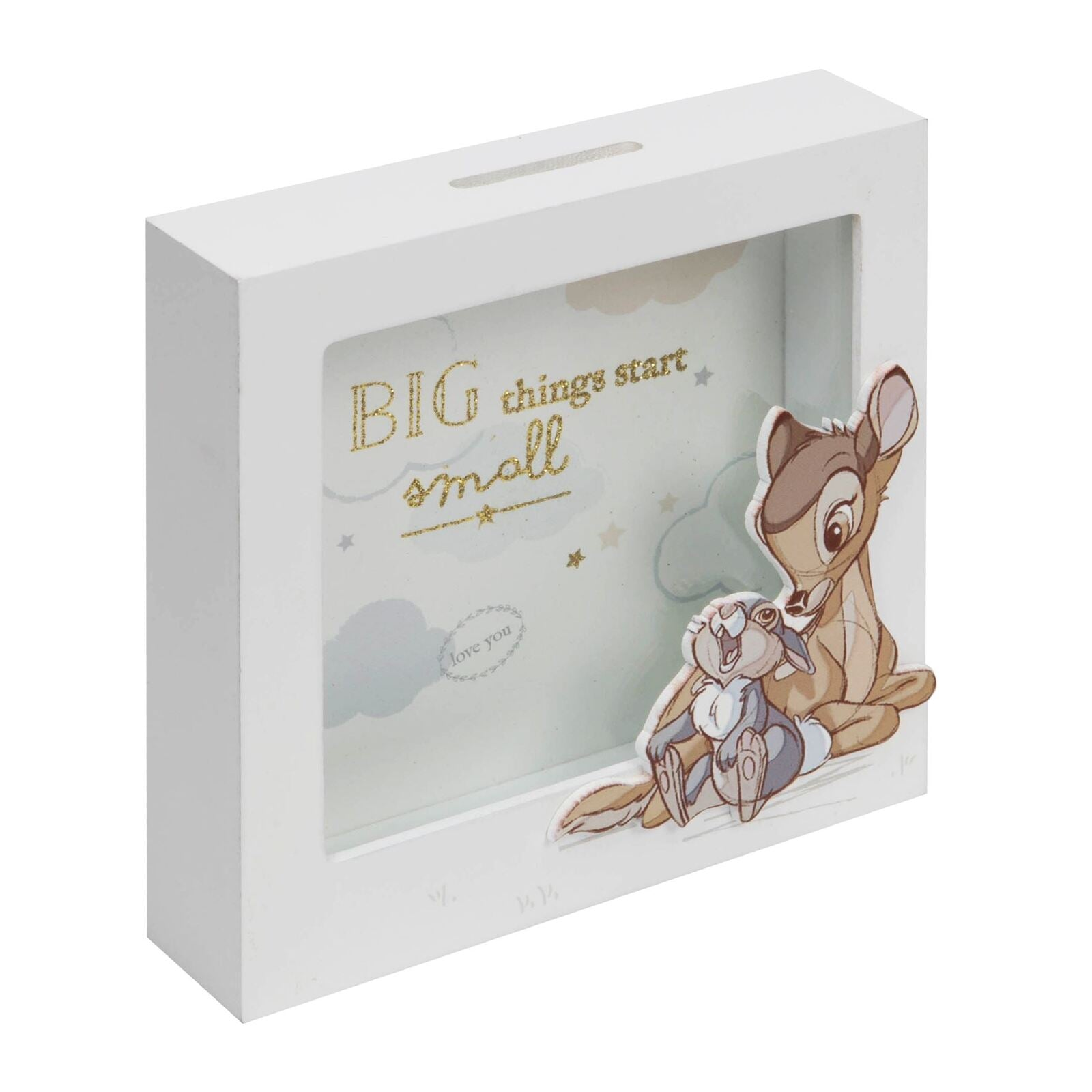 Disney Bambi Money Bank Big Things Start Small