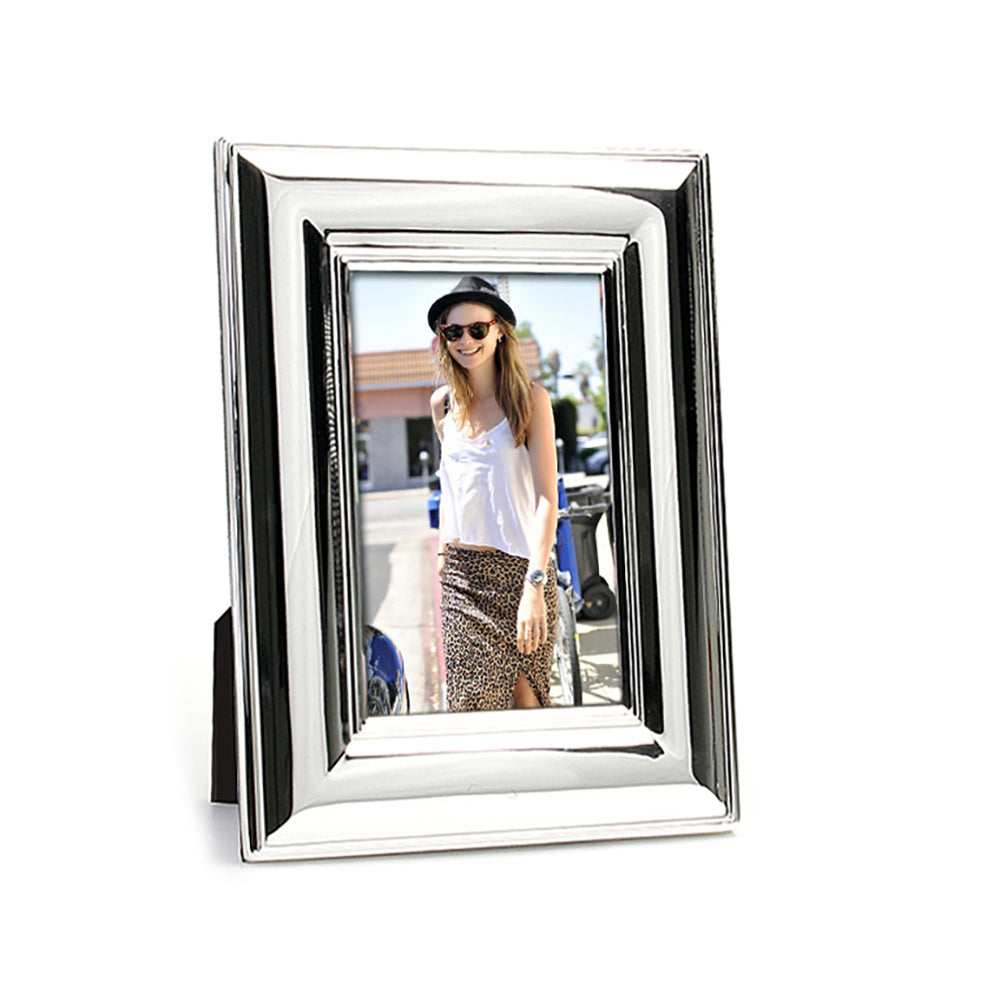deal - Whitehill Frames - Silverplated Wide Plain Photo Frame 10cm x 15cm