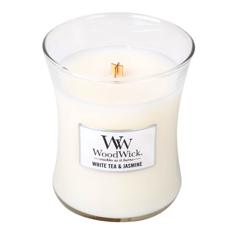 White Tea & Jasmine Medium WoodWick Candle
