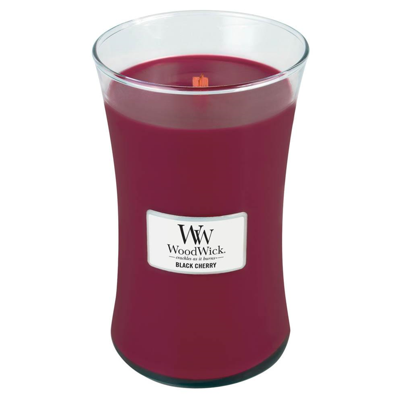 Black Cherry Large WoodWick Candle