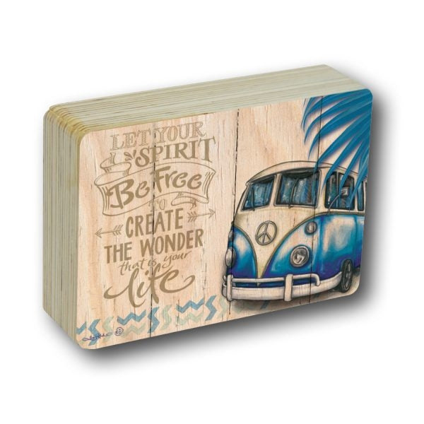 Kombi Revival BE FREE Plaque