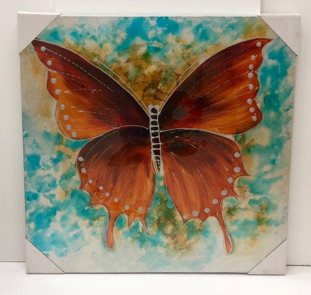 Oil Painting 80x80 Butterfly Brown