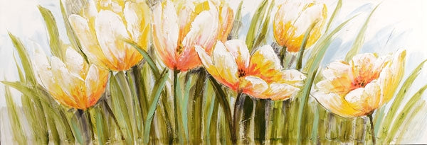Painting 50x150 Apricot Flowers