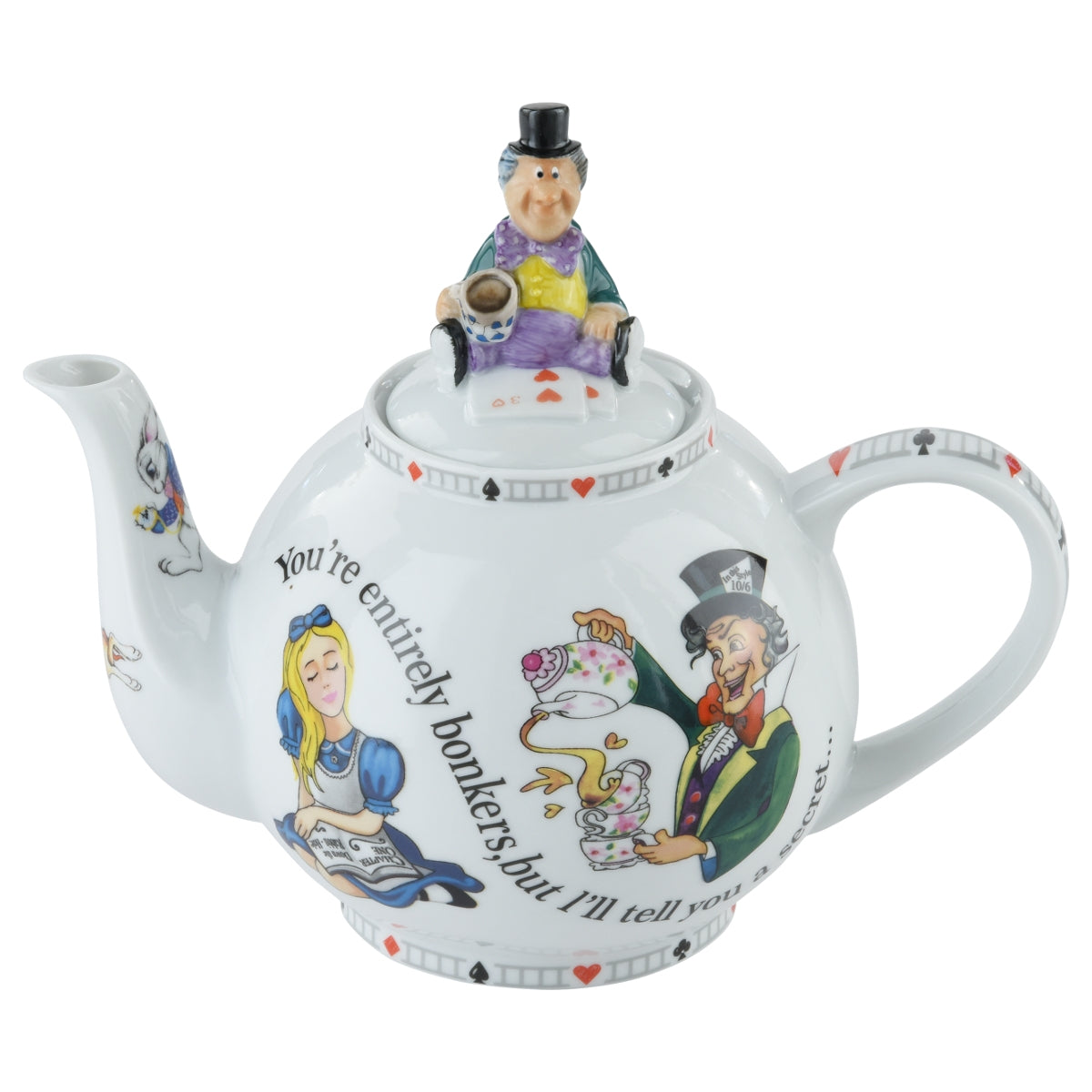 Teapot 4 Cup/30oz Alice Through The Looking Glass