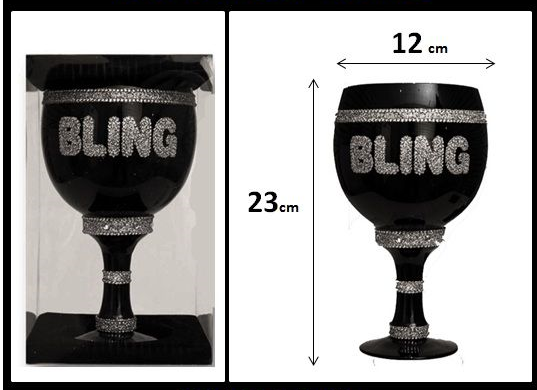 Large Bling Wine Goblet
