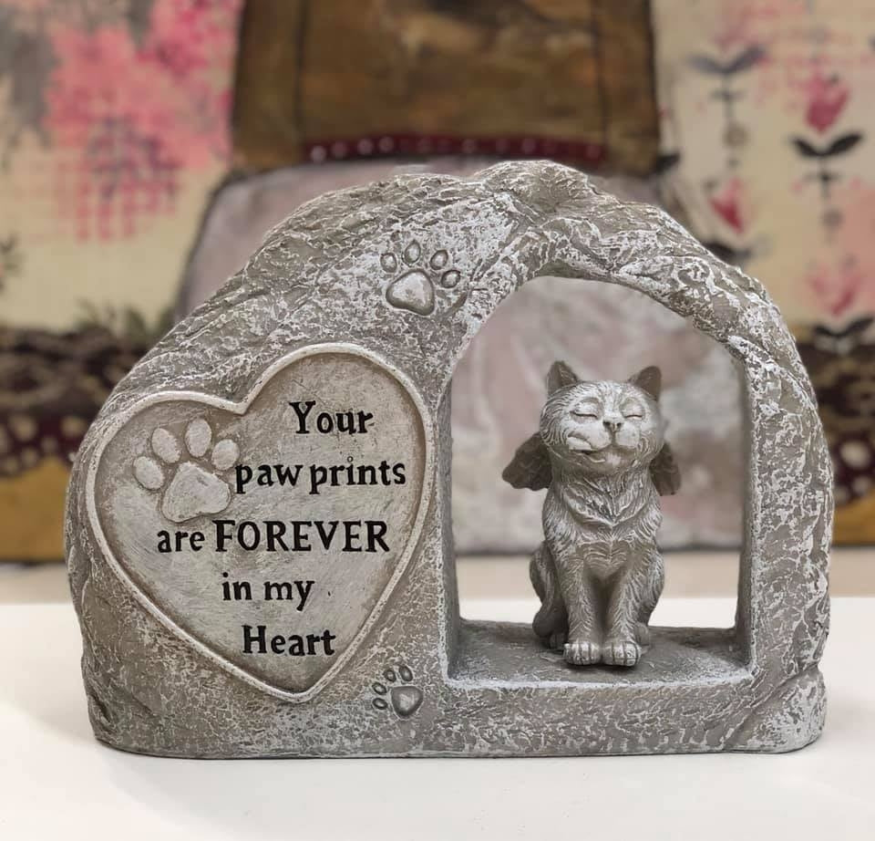 Cat Memorial Stone Plaque