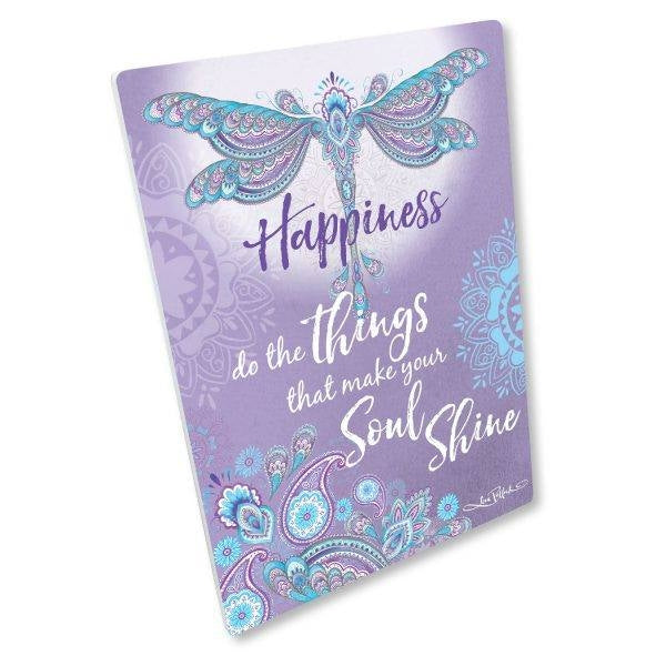 Happiness, Affirmation Ceramic Plaque - D5
