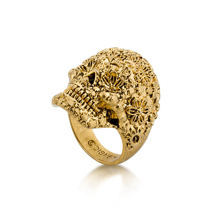 Disney Gold Pirates Skull Ring - Size 6