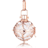 Medium Rose Gold Pendant with White Soundball