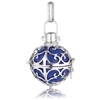Medium Silver Pendant with Blue Soundball