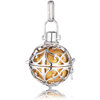 Small Silver Pendant with Gold Soundball