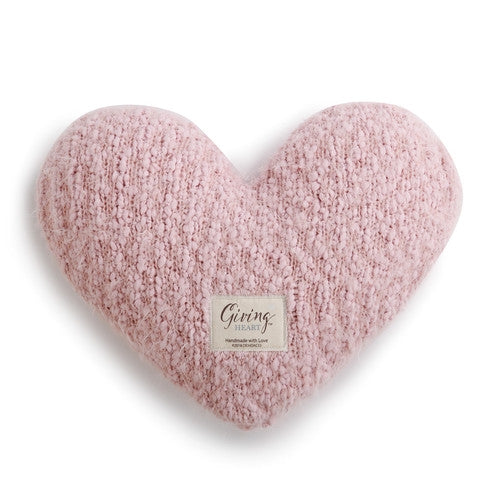 Giving Heart Weighted Cushion Pink
