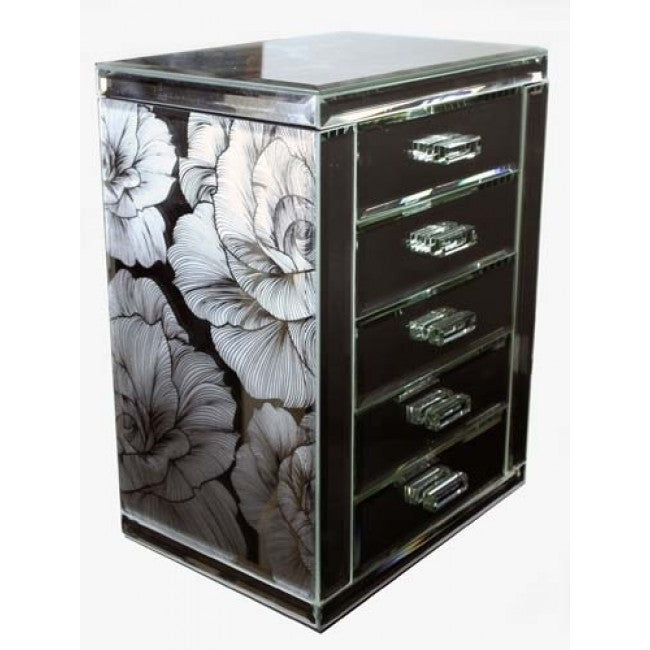 Wholly Rose Table Top Jewellery Cabinet