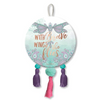 Brave Wings Dragonfly Dreams Round Hanging Plaque with Tassels 15cm