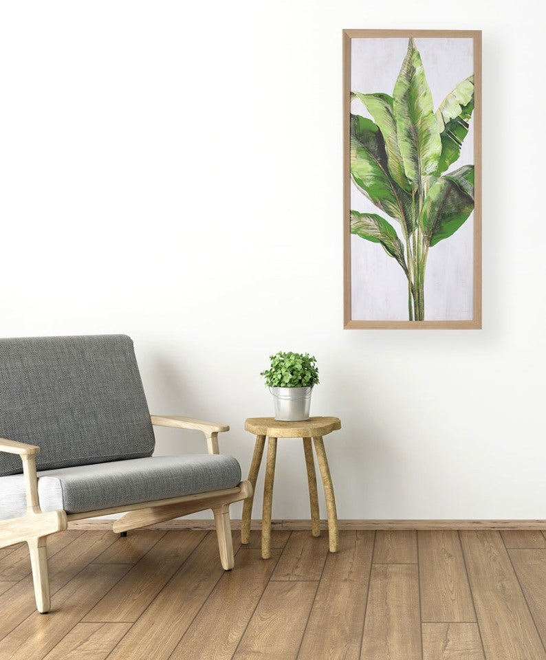 Framed Artwork - Banana Leaf Portrait A - 50cm x 100cm
