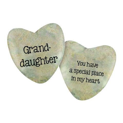 Lucky Heart Stone - Granddaughter
