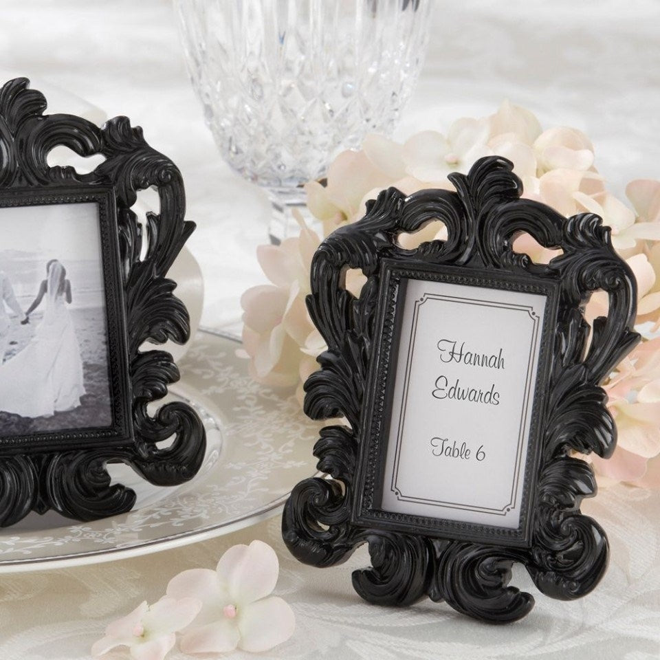 Black Baroque Photo Frame
