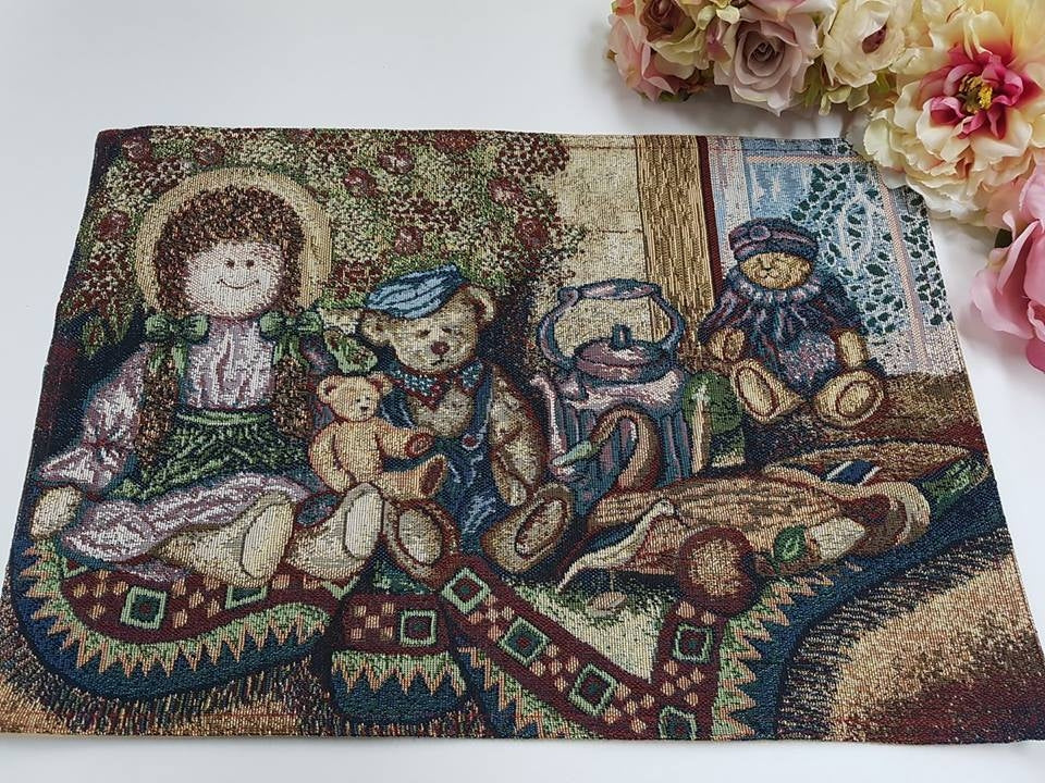 Set of 4 Rag Doll Tapestry Placemats