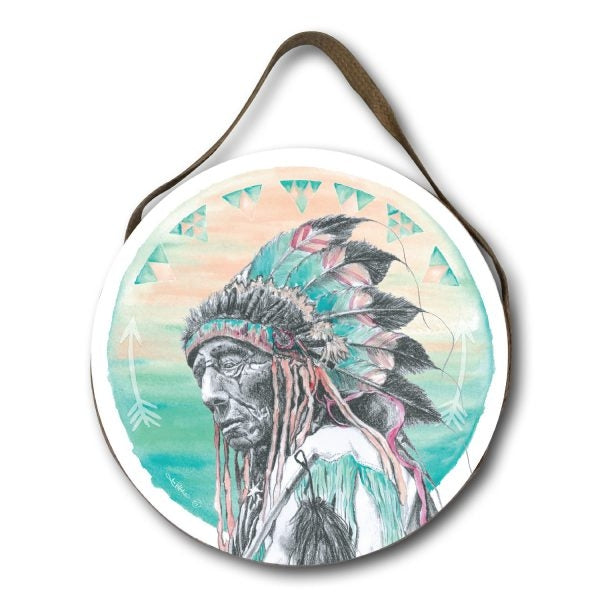 Round Wall Hanging Warrior Spirit