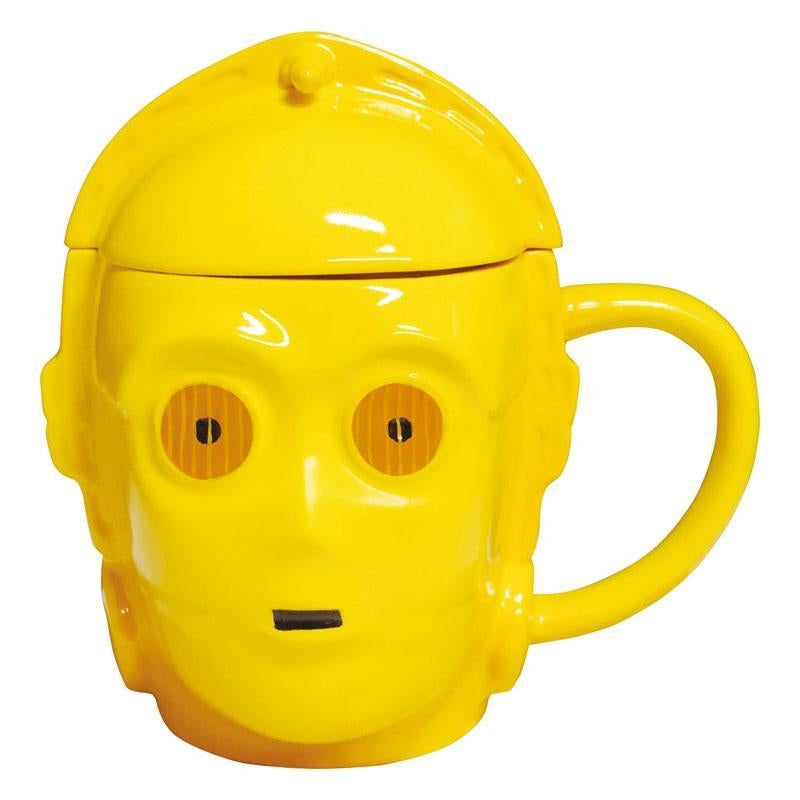 STAR WARS 3D MUG WITH LID - C-3PO
