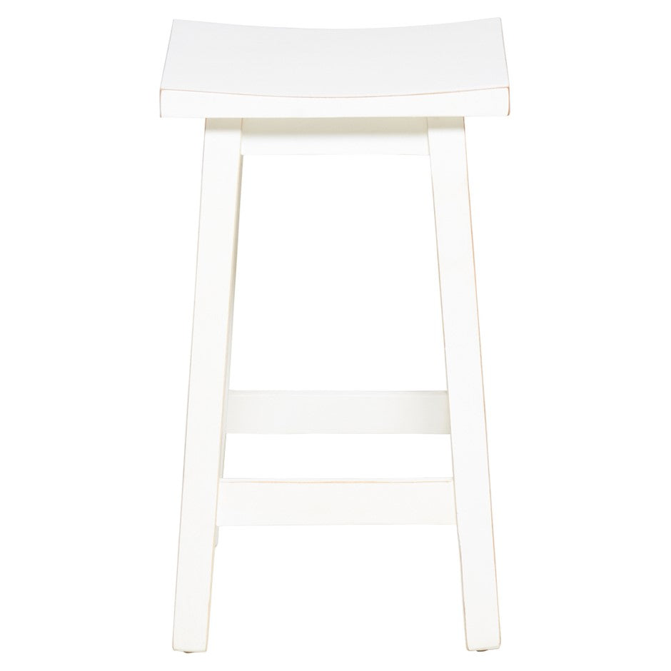 Halo White Timber Stool - Matt Blatt
