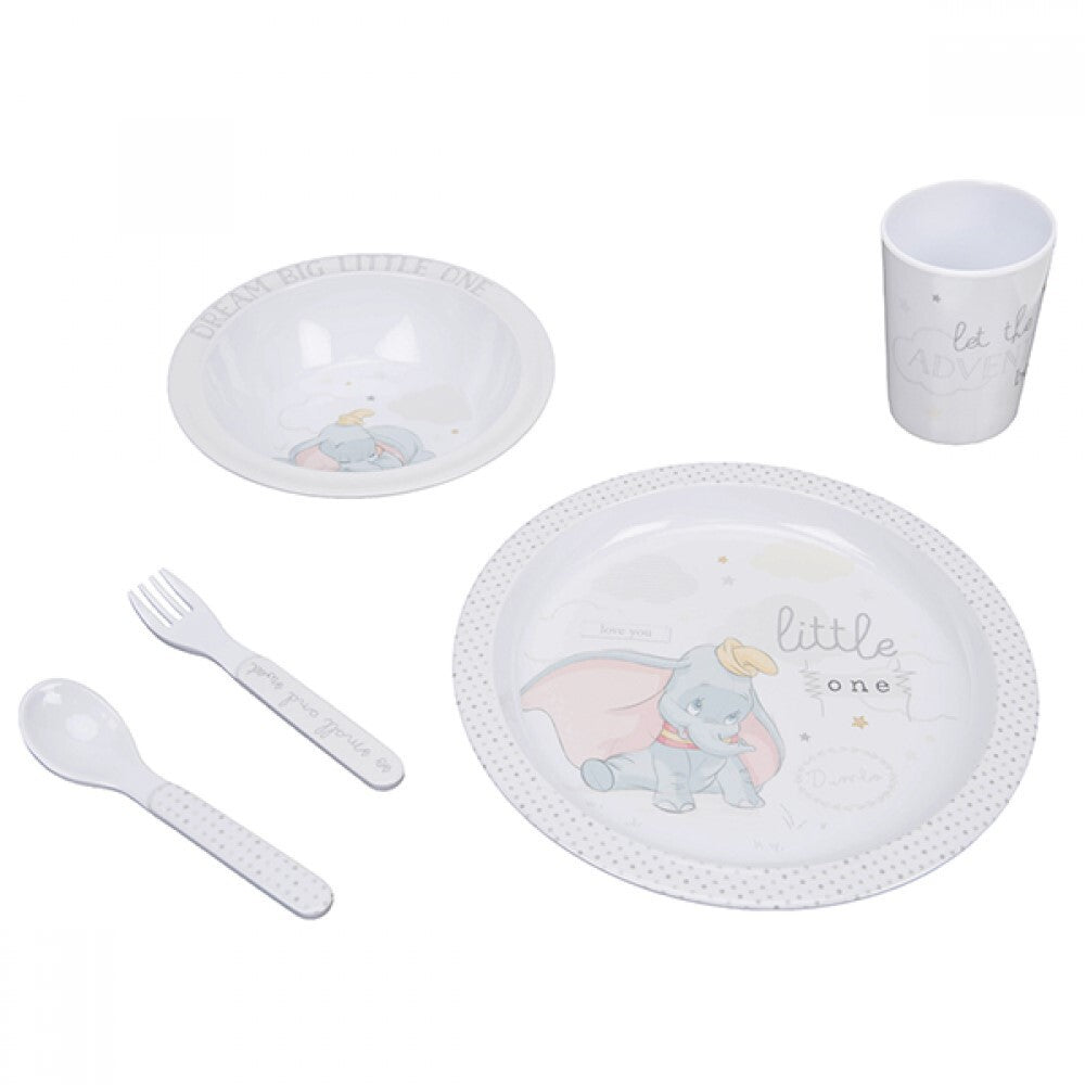 DISNEY MAGICAL BEGINNINGS DUMBO: 5 PIECE DINNER SET