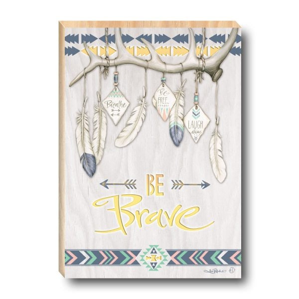 Light Box Gypsy - BE BRAVE - 30x47cm