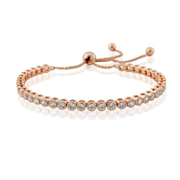 WATERFORD STERLING SILVER ROSE TENNIS BRACELET