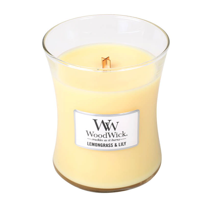Lemongrass and Lily Medium Woodwick Candle