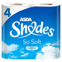 ASDA Shades So Soft White Toilet Roll 4 Rolls