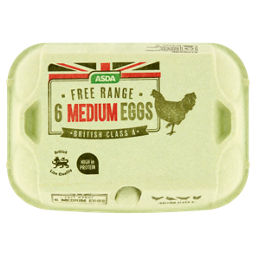 ASDA 6 Medium Free Range Eggs