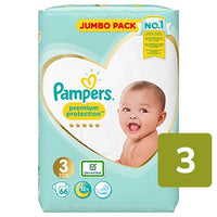 Pampers Premium Protection Size 3 Nappies Jumbo Pack