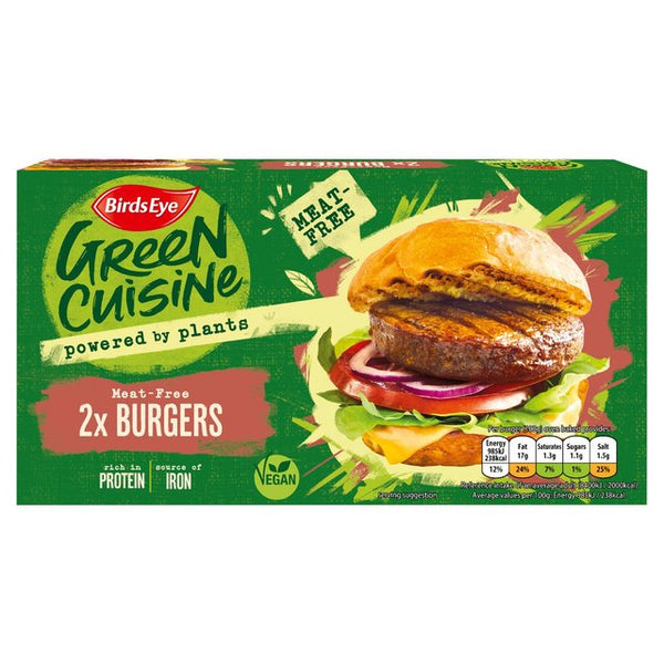 Birds Eye 2 Green Cuisine Vegan Burgers