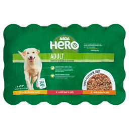 ASDA Meaty Chunks in Jelly Adult Dog Food Tins