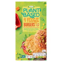 ASDA Plant Based 4 Vegan Vegetable Burgers