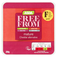 ASDA Free From Mature Cheddar Alternative