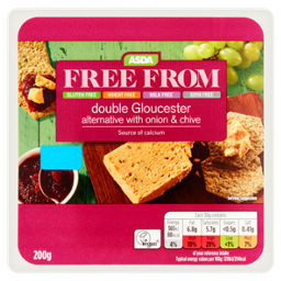 ASDA Free From Double Gloucester Alternative with Onion & Chive