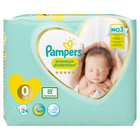 Pampers Premium Protection Size 0 Nappies Carry Pack