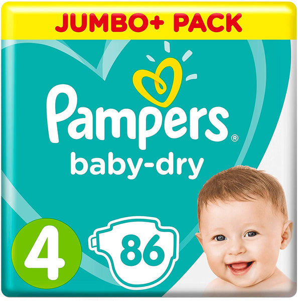 Pampers Baby-Dry Size 4 Nappies Jumbo+ Pack