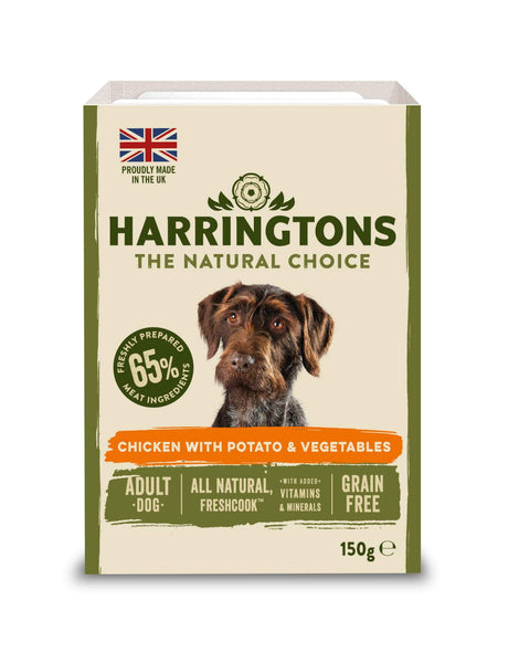 Harringtons Grain Free Chicken & Potato with Vegetables Adult Dog Food Tray