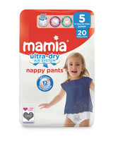 Mamia Nappy Pants Size 5 - 20 Pack