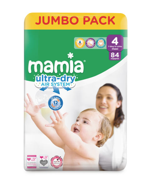 Mamia Ultra Dry Size 4 - 84 Nappies