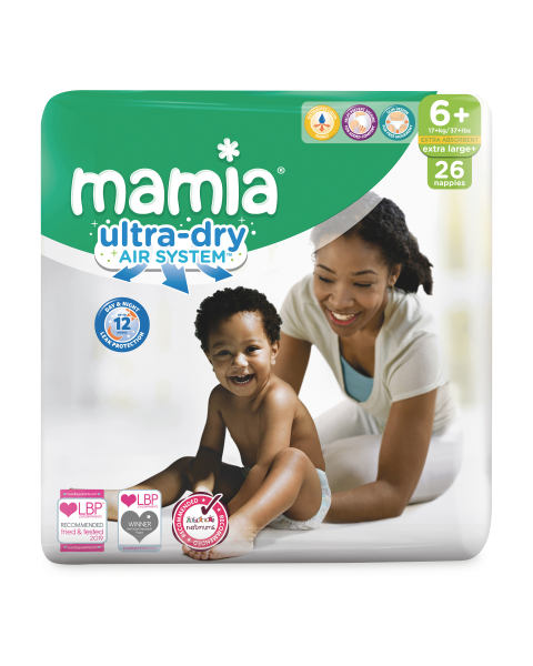 Mamia Ultra Dry Size 6+ 26 Nappies