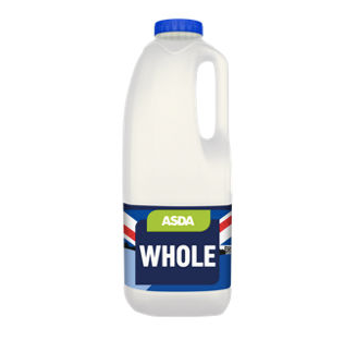 ASDA Whole Milk 2pt