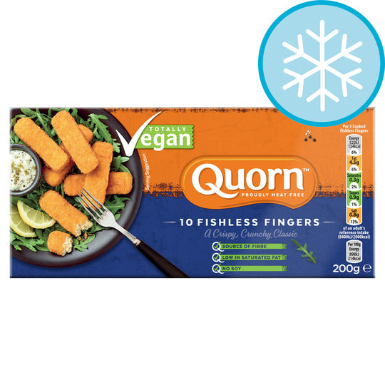 Quorn 10 Meat Free Vegan Fishless Fingers