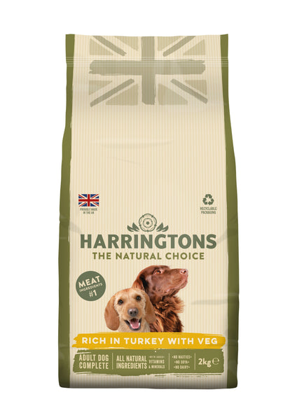 Harringtons Complete Rich in Turkey with Veg Dry Adult Dog Food