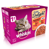 Whiskas Meaty Selection in Jelly Adult Cat Food Pouches