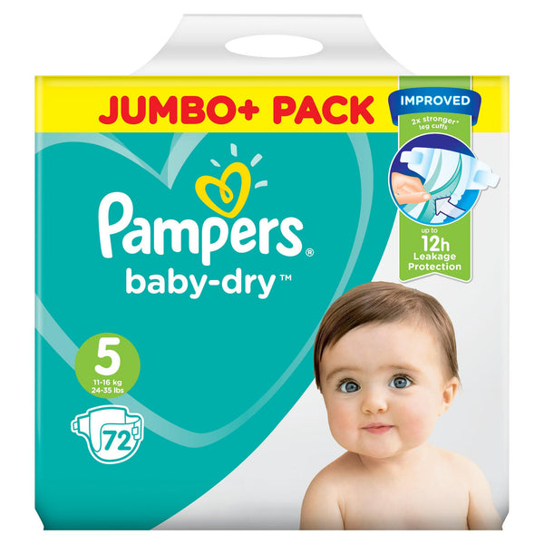 Pampers Baby-Dry Size 5 Nappies Jumbo+ Pack