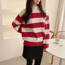 Load image into Gallery viewer, [101067945]APS stripe half neck