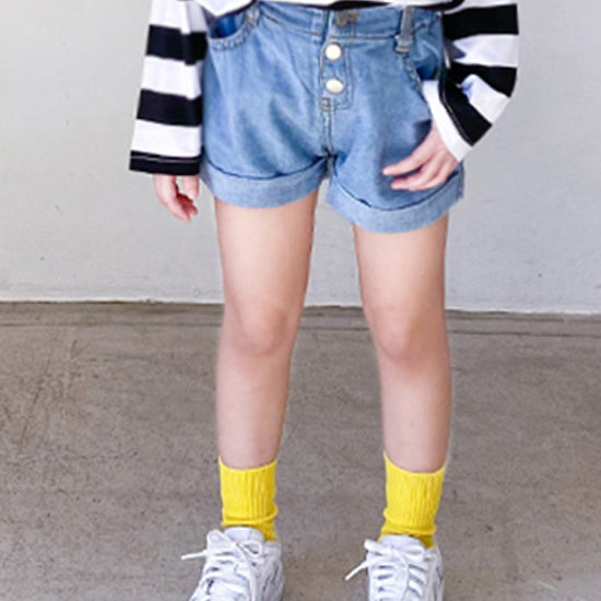 Coke denim short pants - shockingpark